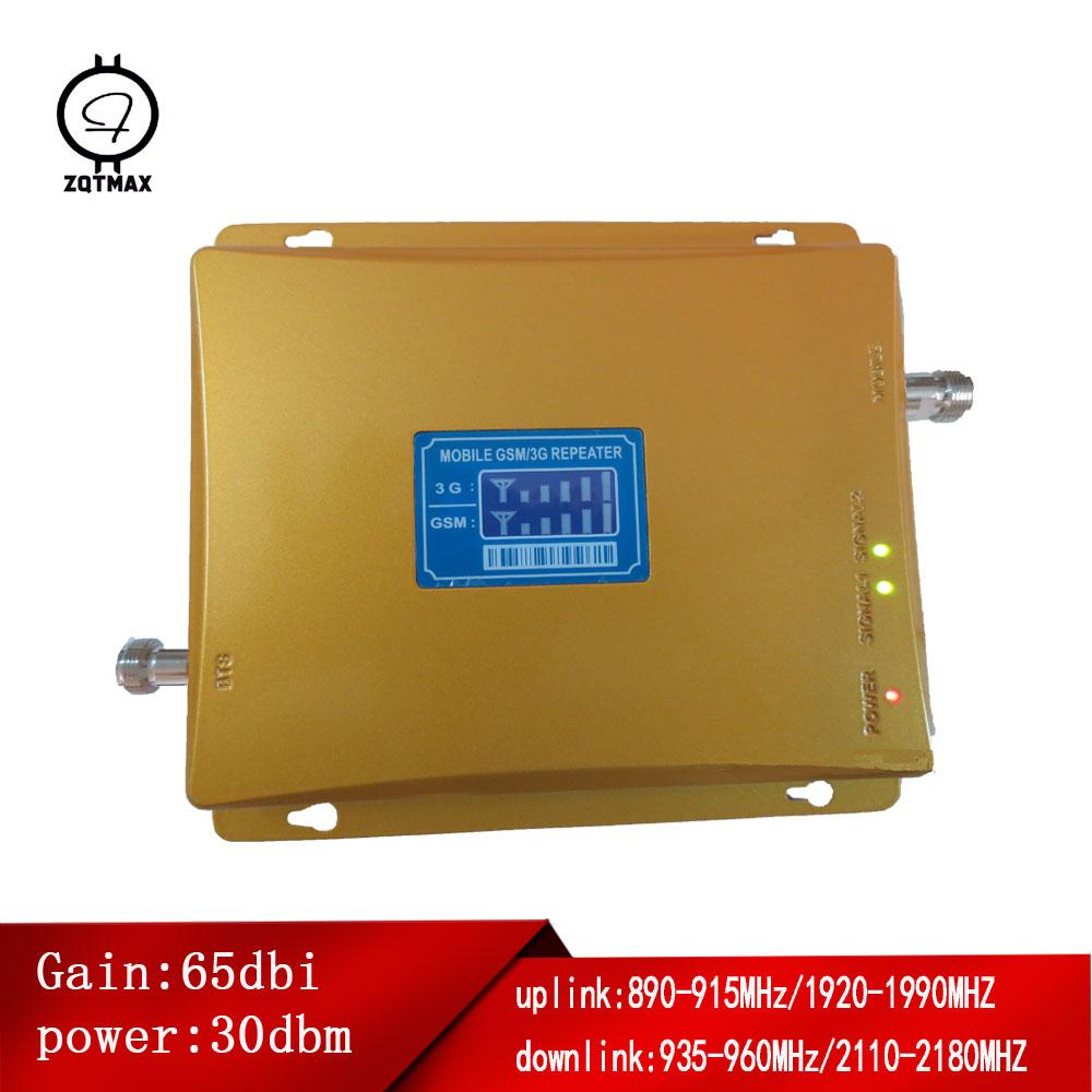 Amplificateur de signal cellulaire double bande ZQTMAX GSM 900 3G 2100 répéteur de signal de téléphone portable amplificateur B8/B1 Internet Mobile