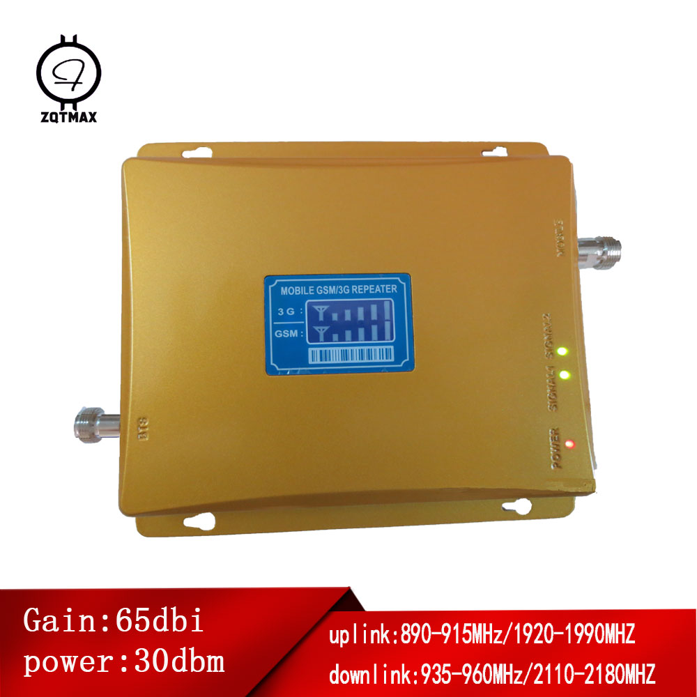 ZQTMAX Dual Band UMTS LTE Cellular Amplifier <font><b>2g</b></font> 3g mobile signal booster GSM <font><b>repeater</b></font> 900 2100 B8 B1 band image