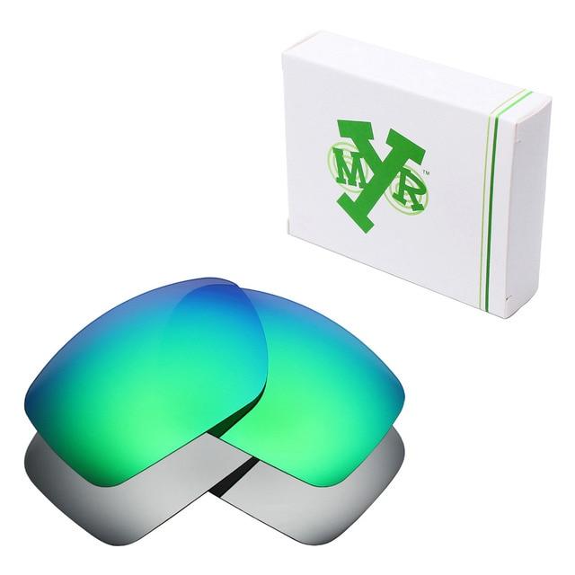 e242c7c0f07 2 Pairs Mryok POLARIZED Replacement Lenses for Oakley Big Taco Sunglasses  Silver Titanium   Emerald Green