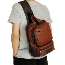 Neue Fashion Men Messenger Bags Lässige Herren Leder Brust Taschen Große Brust Zurück Pack Männliche Umhängetasche Reisetaschen PT1123