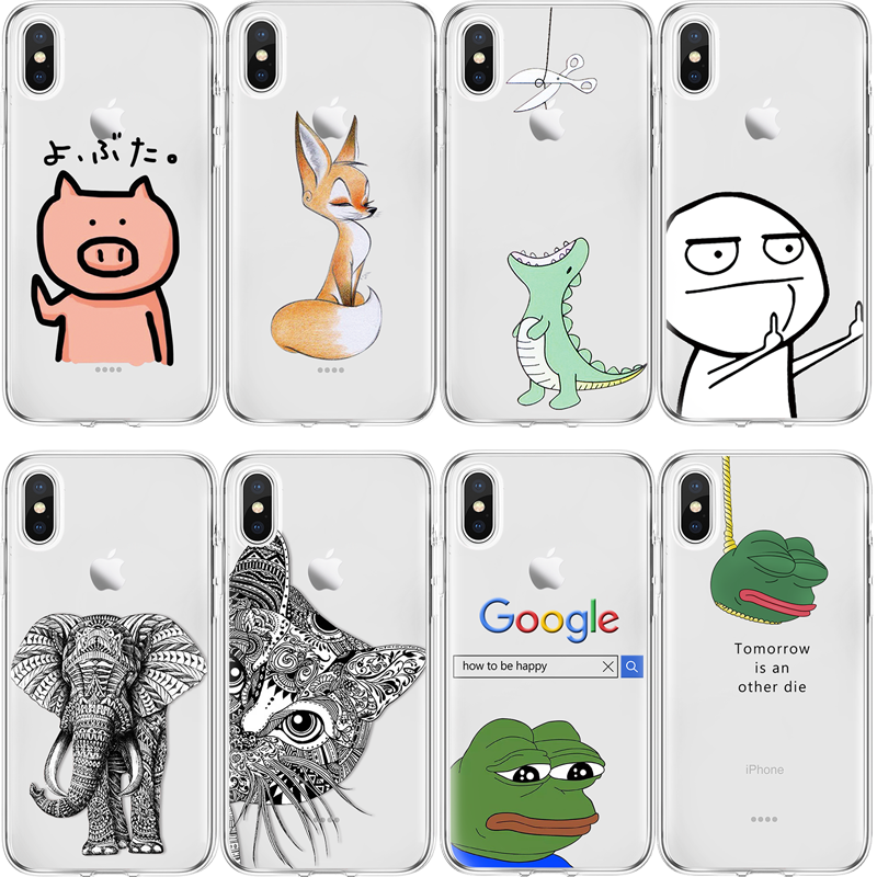 Прозрачный чехол для iPhone X 4 4S 5 5S 5C SE 6 S 6 S 7 8 Plus для huawei P8 P9 P10 P20 Honor 7A Pro mate 10 Lite 2017 P Smart TPU чехол