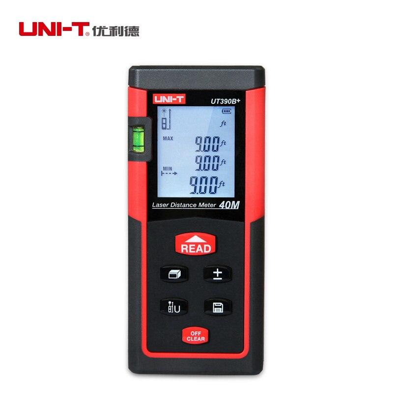 UNI-T UT390B+ Portable Laser Distance Meter 40m Range Finder Rangefinder 40M Area/volume Tester Tool diastimeter Lcd Backlight