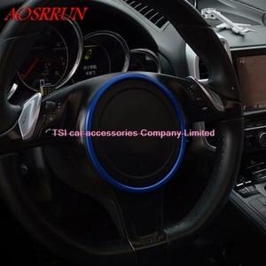 Image 5 - 3色オプションステアリングホイール修正された車の特別な装飾的なサークルポルシェカイエン用パナメーラs 911ボクスター3Dステッカー