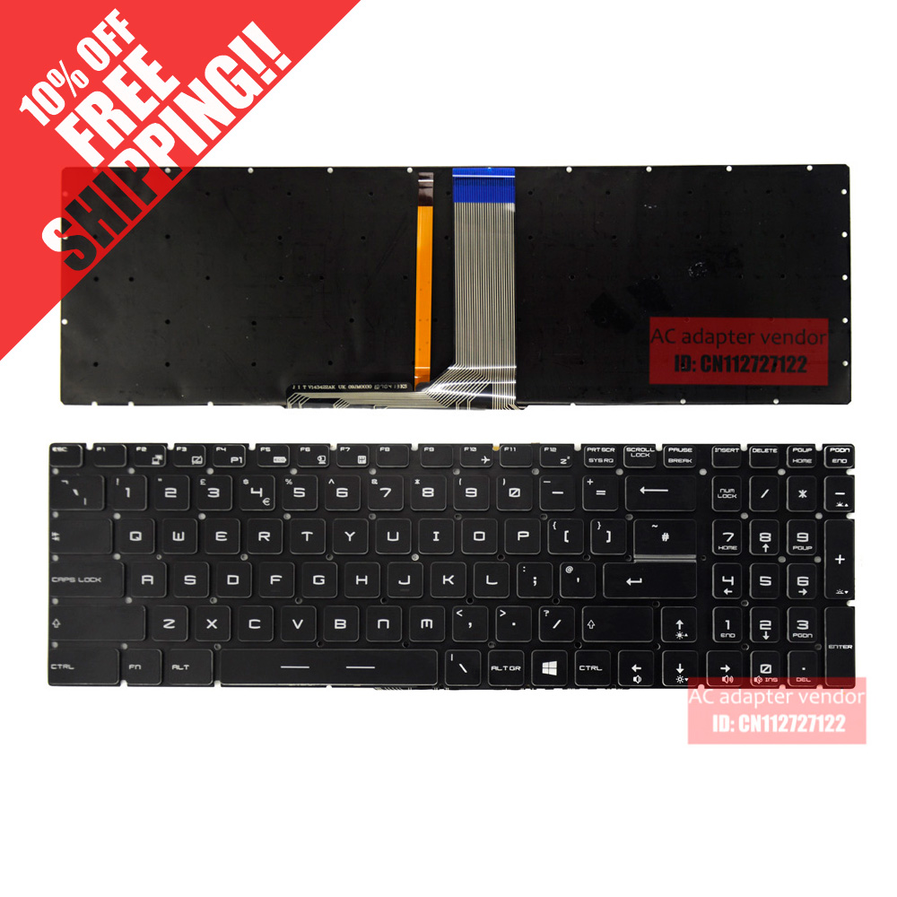 English FOR MSI GS60 GS70 GT72 GS60-2PC GS60-2PE keyboard backlit US P/N 143422FK1 UK laptop keyboard for msi gs60 2pc 2pe 2pl 2pm 2qc 6qc gs70 2od 2pc 2pe 2qd 2qe 6qc 6qd 6qe onc gt72 gt740 gt740x gx62 6qd ws60