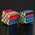 MoYu Aosu Molino de Viento Cubo Mágico Rompecabezas Giro Transparente Púrpura Y Azul Transparente Cubo mágico Juguetes Educativos Juguete para Niños