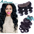 Peruvian Body Wave With Frontal Closure 3 Bundles With Lace Frontal Closure Body Wave Peruvian Hair Weave Bundles With Frontal