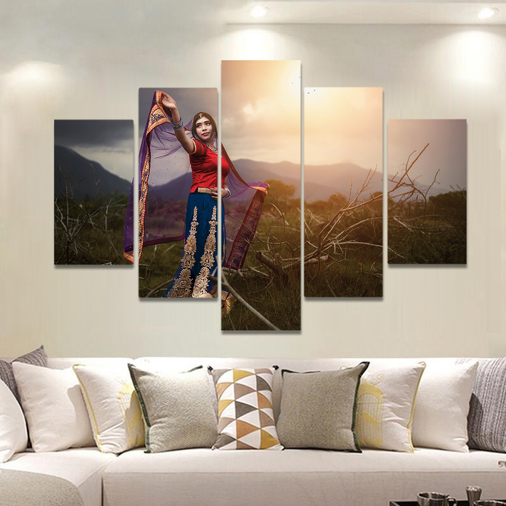 Unframed Canvas Painting Ethnic Customs Sunlight Woman Picture Prints Wall Picture For Living Room Wall Art Decoration