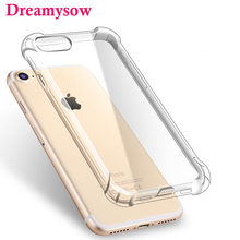 Ultra thin Clear Transparent TPU Silicone Case For iPhone XS MAX XR 6 7 6S Plus Protect Rubber Phone Case For iPhone 8 7 Plus(China)