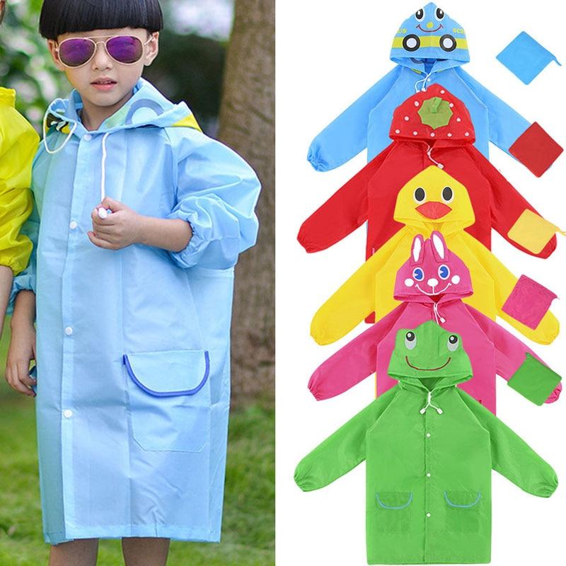 1 Pz Abbigliamento Impermeabile Cute Cartoon Modello Animale Bambini Giacca A Vento Oxford Panno Giallo/blu/rosso/verde/hot Pink