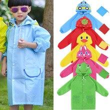 1шт водонепроницаемый одежда милый мультфильм животное модель дети плащ оксфорд ткань желтый% 2FBlue% 2FRed% 2FGreen% 2FHot розовый