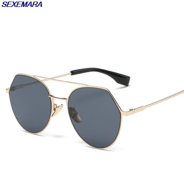 8eaf2f662a3 SexeMara Women S Optical Lenses Uv400 Plastic Adult Cat Eye 50Mm Multi Black  Women Sunglasses