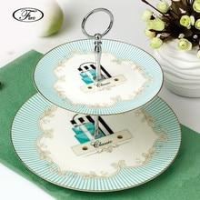 diseo de rayas britnica vajilla doble capa de placa de fruta hogar de china de hueso platos ceamic nueces regalo bandeja de porcelana de china
