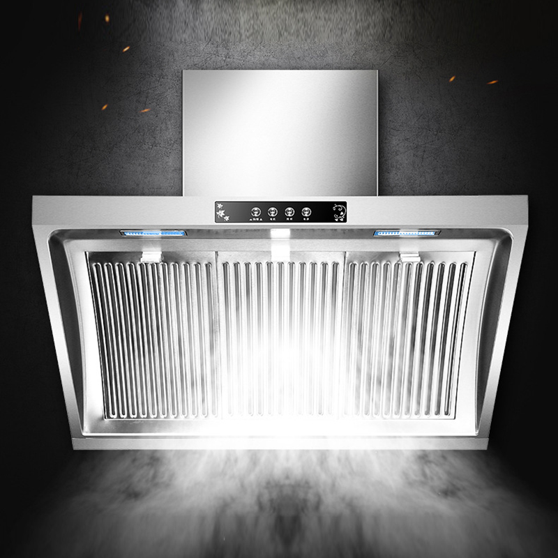 Household Range Hood 900mm Side Suction Stainless Steel Panel Hanging Household Smoke Exhauster Kitchen Hood CXW-268-F