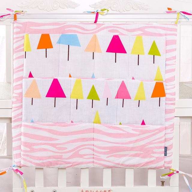 2016 Crib Organizer Toy Diaper Pocket for Crib Bedding Set Baby bed hanging bag Cot Organizer Bed Hanging Storage Bag Newborn