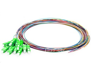 Image 2 - Fiber Pigtail 12 Colors 1.5m SC/LC/FC/APC/UPC fiber Pigtail cable G657A 12 Cores 12 Fibers Simplex Single Mode 0.9mm