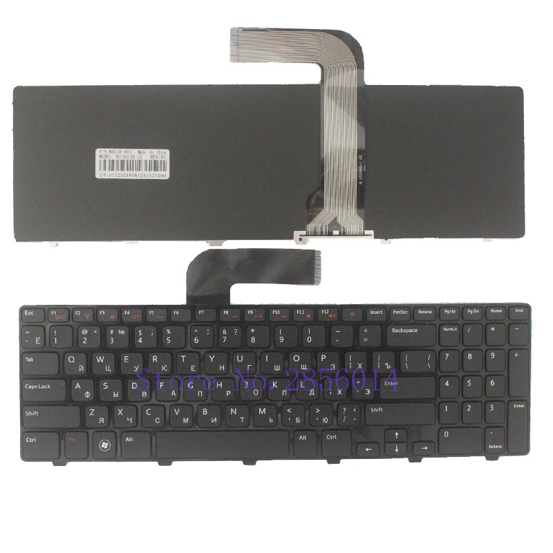 Russian Keyboard for Dell Inspiron 15R N5110 M5110 N5110 M511R M501Z RU Black laptop keyboard 100% new jintai dc power jack port vga usb board for dell inspiron 15r n5110 vostro v3550 pfyc8