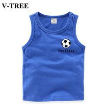 Été garçons t-shirts enfants hauts coton gilet pour enfants Football bébé Singlet 1-10 ans sous-vêtements pour adolescent modèles