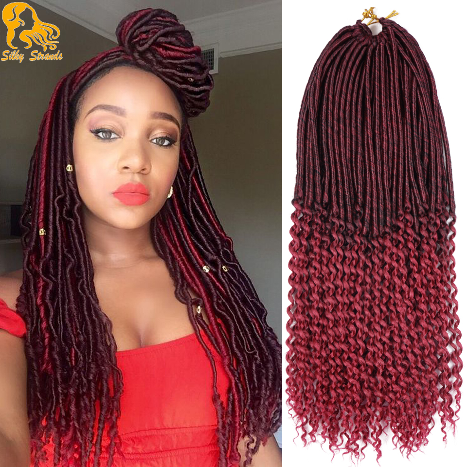 """Aliexpress.com : Buy 20"""" 90g 24Root Curly Faux Locs ..."""