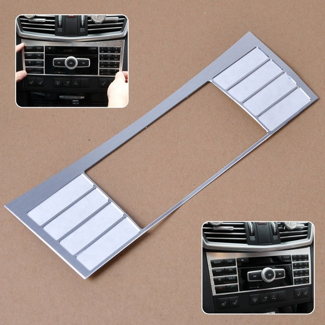 New Aluminium Interior Center Console Button Panel Switch Panel decorative Cover Trim For Mercedes Benz W212 E Class 2010-2015