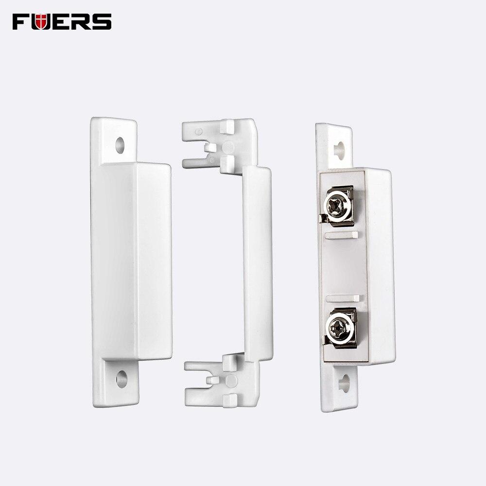 FUERS Door Magnetic Switches White Wired Door Sensors Gap Detector Door Window Sensor For Home Alarm System Security 10A