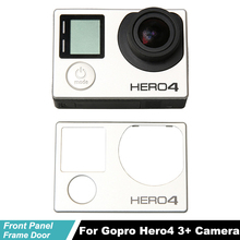 купить Hero4 Faceplate Body Shell Front Panel For Go pro Hero 4 3+ Camera Front Board Cover Frame Door For Gopro Hero4 3+ Repair parts онлайн