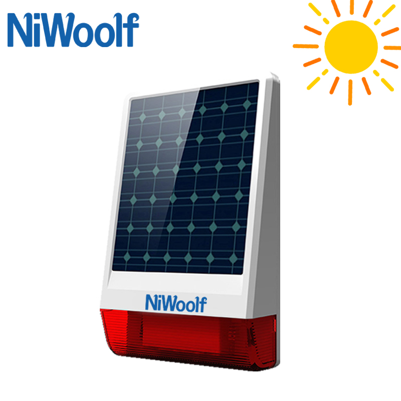 Free Shipping Solar Alarm System Flash LED Siren For GSM Alarm System All For your Home