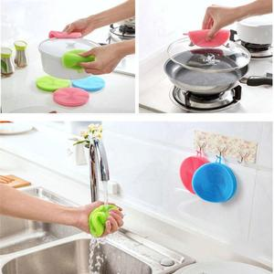 Image 2 - Silicone Dish Washing Sponge Scrubber Kitchen Cleaning antibacterial Strong effect to Grease Tool Kitchen accessories
