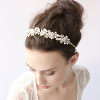 Fashion Crystal Twigs Handmade Hair Accessory Quality Bride Accessories Hair Jewelry Tiara 21cm 50cm