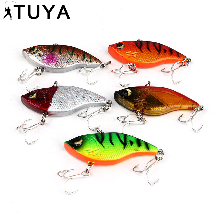 5pcs/Set Winter Fishing Lures Hard Bait VIB With Lead Inside Lead Fish Ice Sea FishingTackle Swivel Jig Wobbler Lure 95-1# new 12pcs 7 5cm 5 6g fishing lure minnow hard bait sea fishing tackle crankbait fishing kit jig wobbler lures bait with hooks