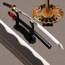 Practical Sharp Knife 1060 Carbon Steel Blade Black Japanese Samurai Sword Katana Delicate Home Metal Decoration