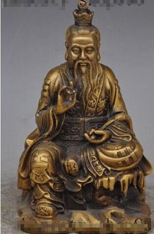 "7""Chinese myth Taoism bronze Sitting High Lord Laojun Taoist Buddha God Statue|Statues & Sculptures|Home & Garden - title="
