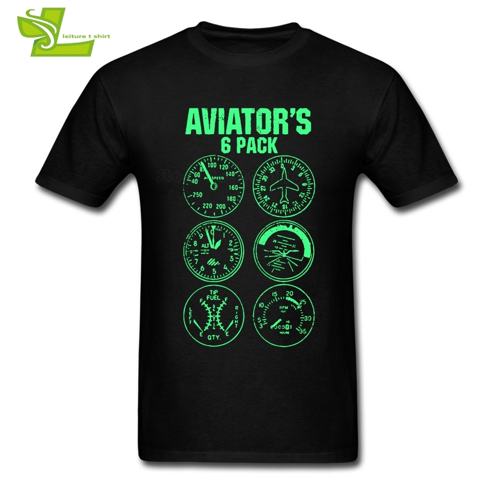 Aviator Six Pack T Shirt Men Short Sleeve Crew Neck Tees Male Newest Big Clothes Cool Summer Comfortable Dad Tee Shirt