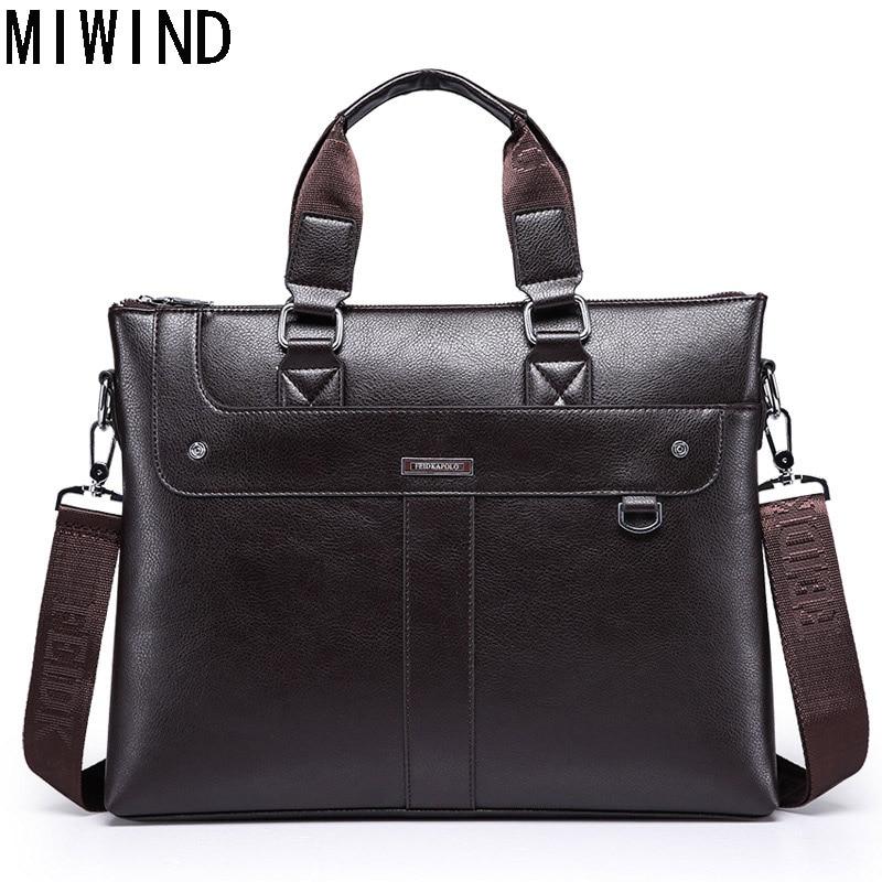 MIWIND Simple Briefcases Business Men Briefcase Bag High Quality Computer Laptop Handbag Bag Men's Travel Bags TAX1147 miwind 100