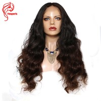 Hesperis 180 Density Brazilian Human Hair 1B/#3 Wavy Full Lace Wigs For Black Women With Baby Hair Natural Hairline Free Parting