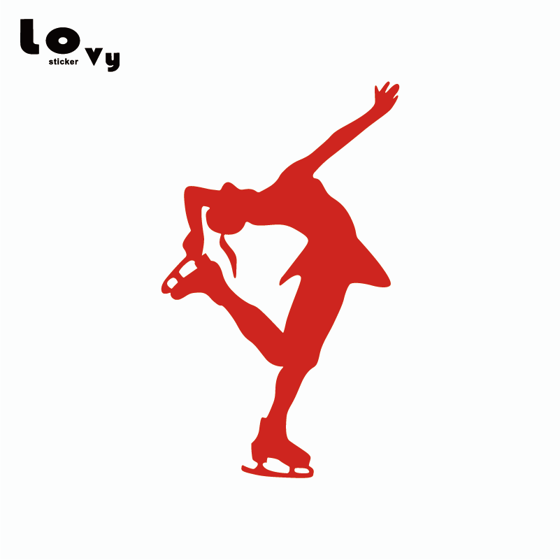 "5/"" ICE SKATE vinyl decal car window laptop sticker figure skating"