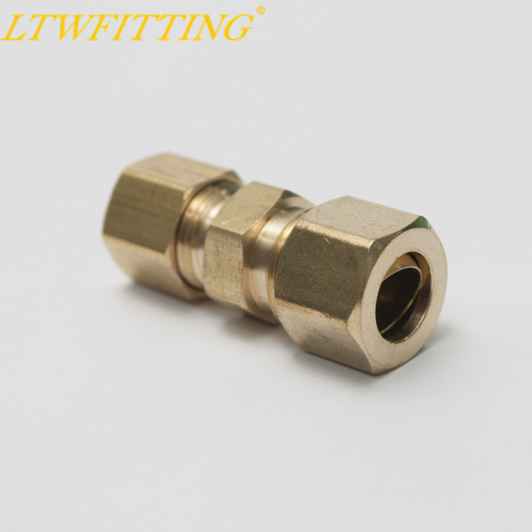 LTWFITTING 3/16 OD x 1/4 OD Compression Reducing Union,BRASS COMPRESSION FITTING barrow white black red g1 4 3 8od x 5 8od 10 x 16mm tubing hand compression fittings water cooling fitting