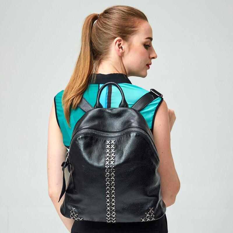 Mulheres mochila mochila feminina de couro genuíno Saco de Cordão Mochilas Para Meninas Adolescentes Bagpack Mochila Holográfica