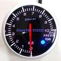 Frete Grátis: 60mm Defi BF Medidor Branco Red Back Light Oil Press Medidor Medidor