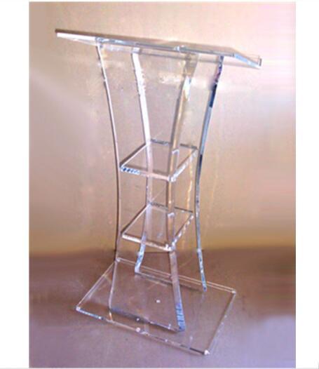 Acrylic Stand Designs : Custom plastic lectern modern design acrylic clear