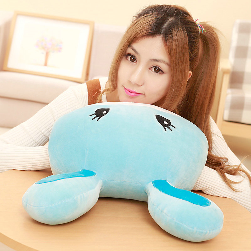 hand warm birthday gift Christmas present 45cm Cute rabbit head plush pillow Stuffed soft PP Cotton cushion rabbit plush toys 1pc kids cute gift winter cartoon plush toys hand warmer cartoon animals soft pillow hand hold warm christmas cushion gift 45