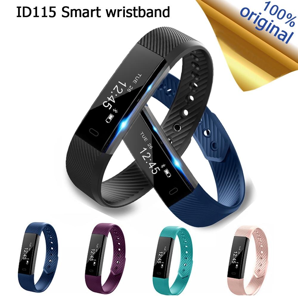 ID115 Smart Bracelet Fitness Tracker Step Counter Activity Monitor Band Alarm Clock Vibration Pedometer Calories Wristband