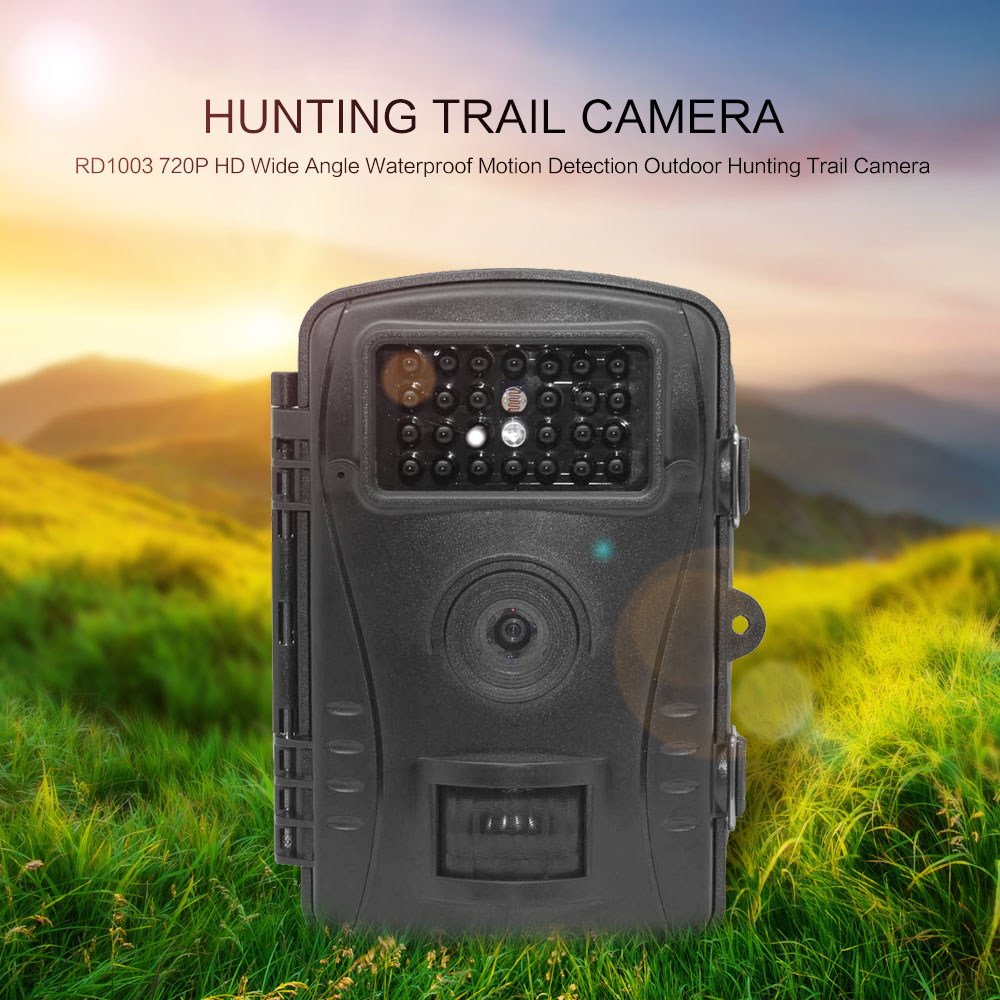 RD1003 720P HD Wide Angle Waterproof Motion Detection Hunting Camera Control Scouting Infrared Wildlife Trail Hunting Camera