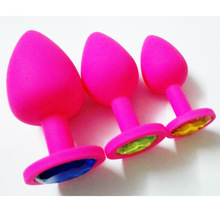 10pcs/lot Anal Sex Toys Erotic Butt Plugs Silicone whith crystal anal plug 3 Size  couples adult  sex toys for men and women