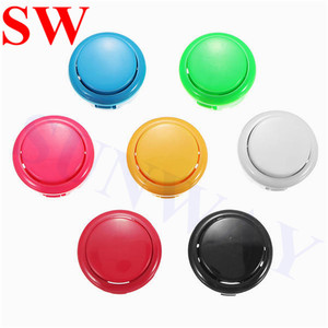 Image 2 - DIY Arcade Joystick Kit 5Pin Joystick Cable 24mm/30mm Buttons USB Encoder Oval ball top joystick 5 Color Optional