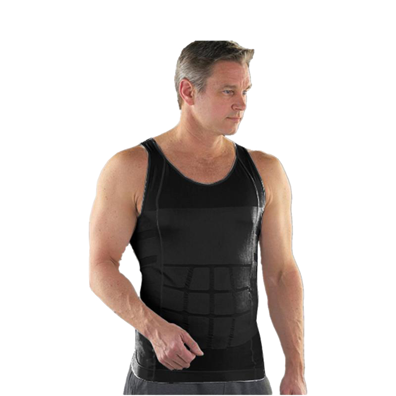 e1bbda983082 Men Corset Body Slimming Tummy Shaper Running Vest Belly Waist Girdle Shirt  Black Shapewear Underwear Waist Shirts DropShipping