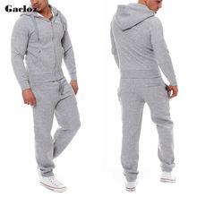 Gacloz Спортивные костюмы Mens Fashion Slim Sportwear Костюм мужской спортивный костюм комплект молн