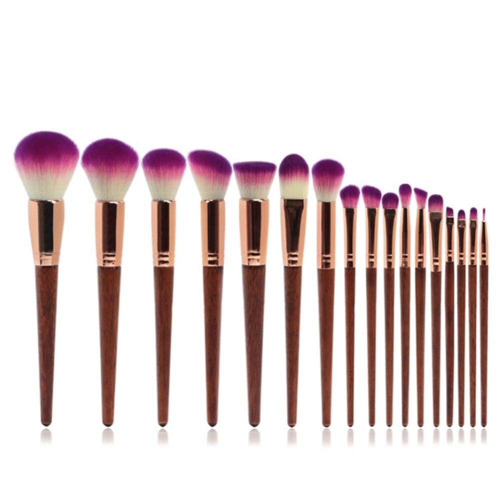 Pro 17pcs Makeup Brushes Set Powder Foundation Eyeshadow Make Up Brushes Cosmetics Soft Synthetic Hair With PU Leather Case mac splash and last pro longwear powder устойчивая компактная пудра dark tan