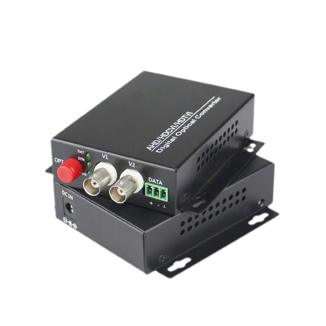 2 CH Video Fiber Optical Media Converters -2 BNC Transmitter Receiver  Single mode 20Km For CCTV Surveillance system