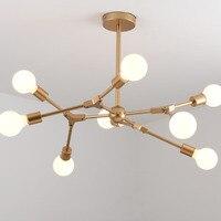 Современная светодиодная лампа Magic Bean люстра Черное золото металл молекулярная Подвеска для гостиной исследования декор домашняя люстра