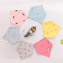 New Baby Bibs Bandana Cotton 100% Soft Babador Feeding Bibs Baby Smock Newborn Burp Cloths Cartoon Print Baby Stuff(China)